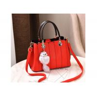 China Large Capapcity Ladies Leather Handbags 899W Cotton / Polyester Lining Inside on sale