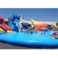 Buy cheap Customized Inflatable Water Parks , Giant Shark Inflatable Swimming Pool With Slide product