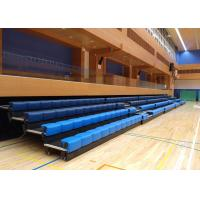 Power Control Retractable Grandstands Retractable Seating System Recessed Polymer Bench