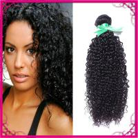 Buy cheap Kinky Curl Indian Human Hair Extensions Natural Black Without Chemical product