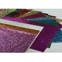 Eco Friendly Craft A4 Size Pu Glitter Fabric Sheet Metallic Glitter Fabric for sale