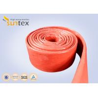 Buy cheap 550C Heat Resistant Silicone Fiberglass Sleeve Insulation Cable Pipe Protection product