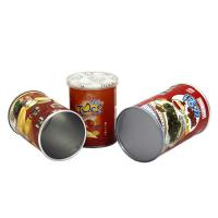 China Paper Tube Candy Packaging , Embossing Printing round canister on sale