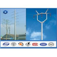 110KV Double Circuits Angle Electrical Power Pole for distribution Line