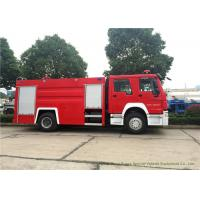 Security Fire Fighting Truck With 5900 LWater tank and 2000 Liters Foam Tank
