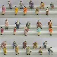Buy cheap boutique 1:87 seated figures ,scale figures,1/87 figures,model people,color HO figures,scale people,model train people product