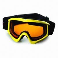 Buy cheap Anti-fog Ski Goggle with Elastic Jacquard Strap, Comfortable Face Foam, 100% UVA, UVB Protection product