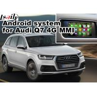 Buy cheap GPS Android Navigation Box Video Interface For 2016 Audi A4 Q7 4G MMI Waze Youtube Wifi from Wholesalers