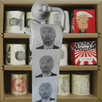 Buy cheap Trump printed toilet paper 3 layer 200 sheets 100% wood virgin pulp novelty toilet roll supplier product