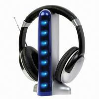 Buy cheap Wireless Headphones with FM Radio, Connecting with Music Player product