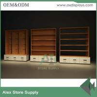 Buy cheap Women clothes display shelf showcase clothes display wall unit clothes shop furniture design wood with LED product