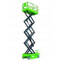 Buy cheap Hydraulic Motor Drive Self Propelled Scissor Lift Table 10m High Aerial Work Platform product