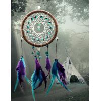 Buy cheap Antique Imitation Dreamcatcher Gift checking Dream Catcher Net With natural stone Feathers Wall Hanging Decoration Ornam product