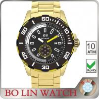 Outdoor Activities Big Cool Stainless Steel Sports Watches IP Plating