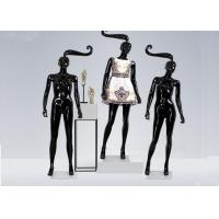 Buy cheap Glossy Black Long hair Shop Display Mannequin For Garment Display product