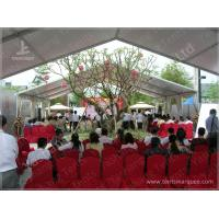 Buy cheap 10X15 M White UV Protective Clear Span Fabric Buildings , Clear Span Marquee Hire product