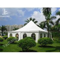 China Recreation White PVC Fabric Cover High Peak Tents Pagoda Event Tent for Fun on Grassland on sale