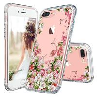 Buy cheap Floral Print Clear Apple Cell Phone Cases Transparent Plastic With TPU Bumper product