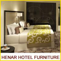 Furniture Dark Walnut Frame Faux Leather Hotel Bedroom Furniture Set