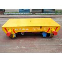 Buy cheap Steel Cast Wheel Material Transfer Trolley , Self - Propelled Motorized Material Handling Carts Railway Transfer Cart product