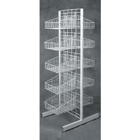 Buy cheap 4 Tier Folding Metal Wire Bread Display Rack with Sign Holder product