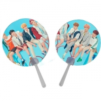 Buy cheap 0.6mm PET Lenticular 3D Moving Fan BTS EXO Of Super Stars product