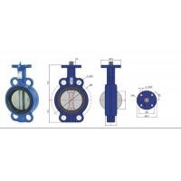 Buy cheap high temperature Stainless Steel  Wafer Type Headless Butterfly Valve With Back Seat product
