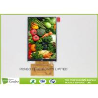 China 3.5 Inch IPS TFT LCD Display 320 * 480 37 Pin MCU 16 Bit Interface Option Touch Screen on sale