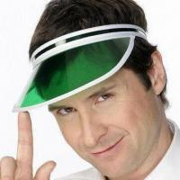 Buy cheap Clear Green Poker Dealer Visor Gambling Casino Hat, Made of Eco-friendly Material product