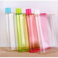 Quality A5 notebook Water bottle ,A5 size Memo Plastic Sport water bottle,A5 flat water for sale