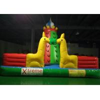 Buy cheap Kids Outdoor Playground Inflatable Rock Climbing Wall With Extra Webbing Reinforced Strip product