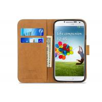 Buy cheap Thinnest Black Samsung Leather Case / Samsung Galaxy S4 Flip Case Waterproof product