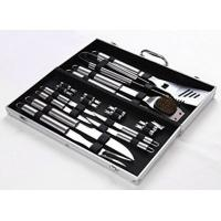 18 Pieces Stainless Steel BBQ Set with Aluminum Storage Case - Heavy Duty Professional Outdoor Barbecue Grill Tool