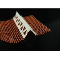 Buy cheap Customized Plastic Profiles Vinyl Corner Bead With Mesh 23MM X 23MM product