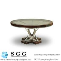 Buy cheap Excellence quality tempering rounded Dining Table glass top product