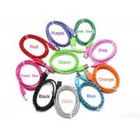 Buy cheap 3ft Colorful Round Nylon Woven Charging & Data Sync Cable for iPhone 5 6 6 Plus product