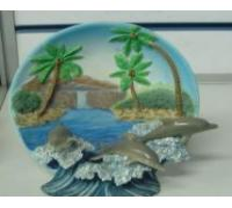 Polyresin Landscape Plates