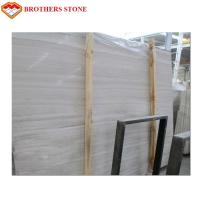 Buy cheap White Wood Vein Marble Slabs And Tiles Not Easy To Stick Dust For Stair Railings product