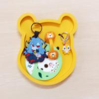 Japanese Rilakkuma Low price with High quality Soft PVC Coaster With Holder