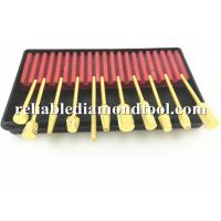 Quality Gold Plated Dental High Speed Steel Drill Bits 10 PCS / Set  2.34 mm Shank for sale