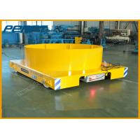 Buy cheap 4 Wheel Ladle Transfer Car Moter Driven Electric Rail Flatbed Car For Heavy Load Ladle Transportation product