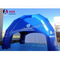 China CE Blue Large Inflatable Tent , 6M Oxford Fabric Inflatable Spider Dome Tent on sale