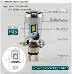 Buy cheap Custom P2P Super Bright H4 Headlight Bulbs , H4 LED Headlamp 280° Emitting Beam Angel product
