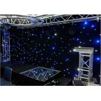 Buy cheap Stage Wedding Star LED Curtain Lights Warm White Drop Velvet Easy To Set Up from wholesalers
