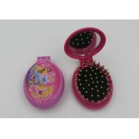 Buy cheap Fashsion Oval Shape 2 In 1 Folding Travel Hair Brush With Mirror And Comb product