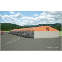 Buy cheap Customised Orange Warehouse Temporary Storage Shelters Huge Tent Rentals Eco Friendly from Wholesalers