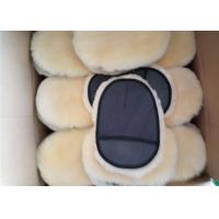 Buy cheap Sheepskin Car Wash Mitt Single Side Lambs Wool Car Detailing Polishing Glove product