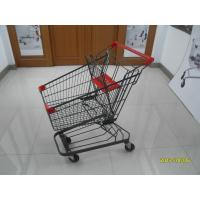 Buy cheap Grey Powder Coating 80L Supermarket Shopping Trolley With 4 Inch PU Casters product