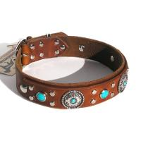 Buy cheap Embroidered Paw Leather Dog Collar GCDC-062PRCB product