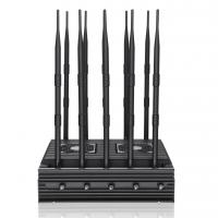 Buy cheap New powerful 10 antennas jammer block 2G, 3G, 4G, WIFI, 5.8GGPSL1 ,Lojack,75W output power cover range up to 80m product